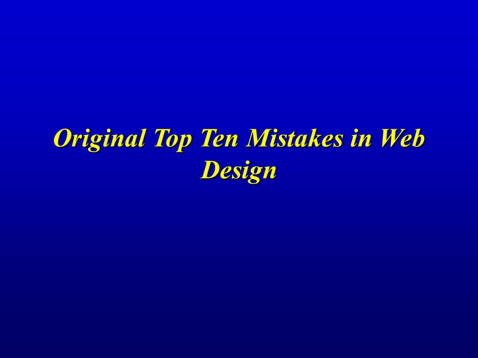  Web design is easy: If you are thinking about how to design a certain page element, all you have to do is to look at the twenty most-visited sites on the Internet and see how they do it.