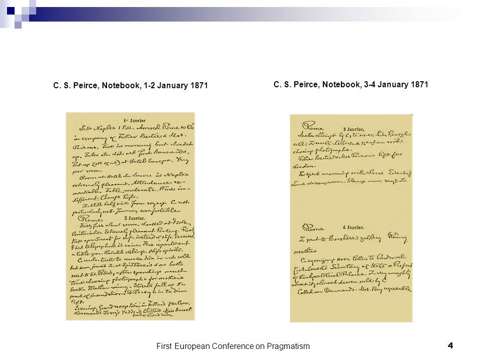 C.S. Peirce, Notebook, 1-2 January 1871 C. S.
