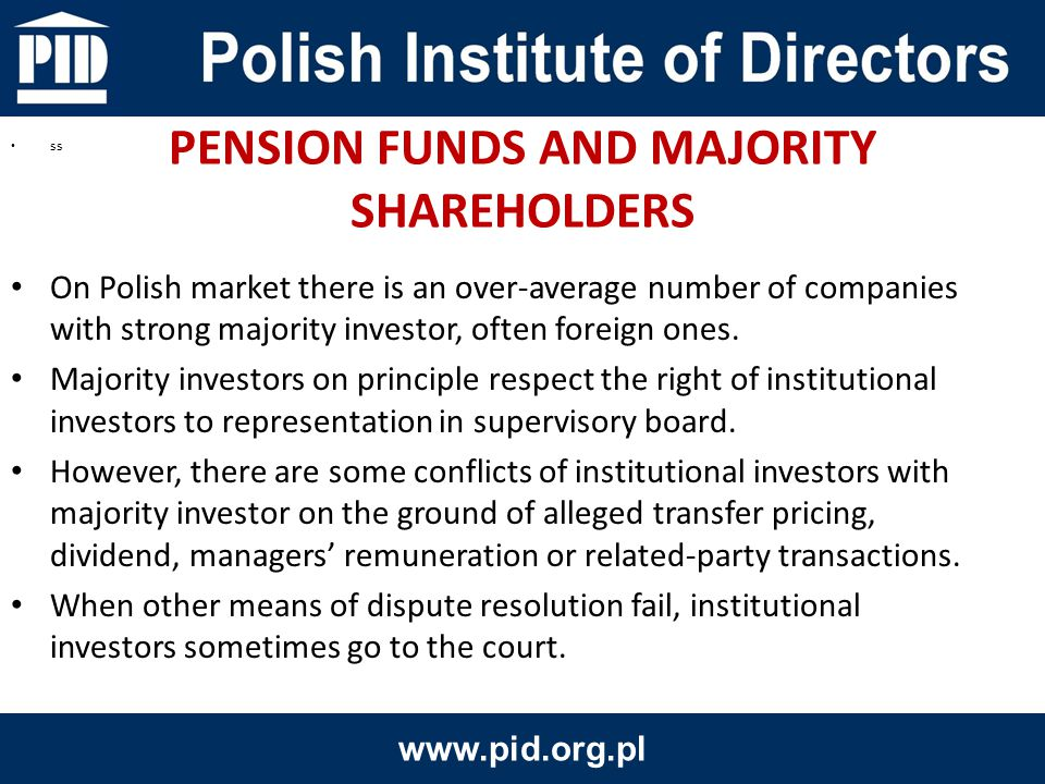 On Polish market there is an over-average number of companies with strong majority investor, often foreign ones.