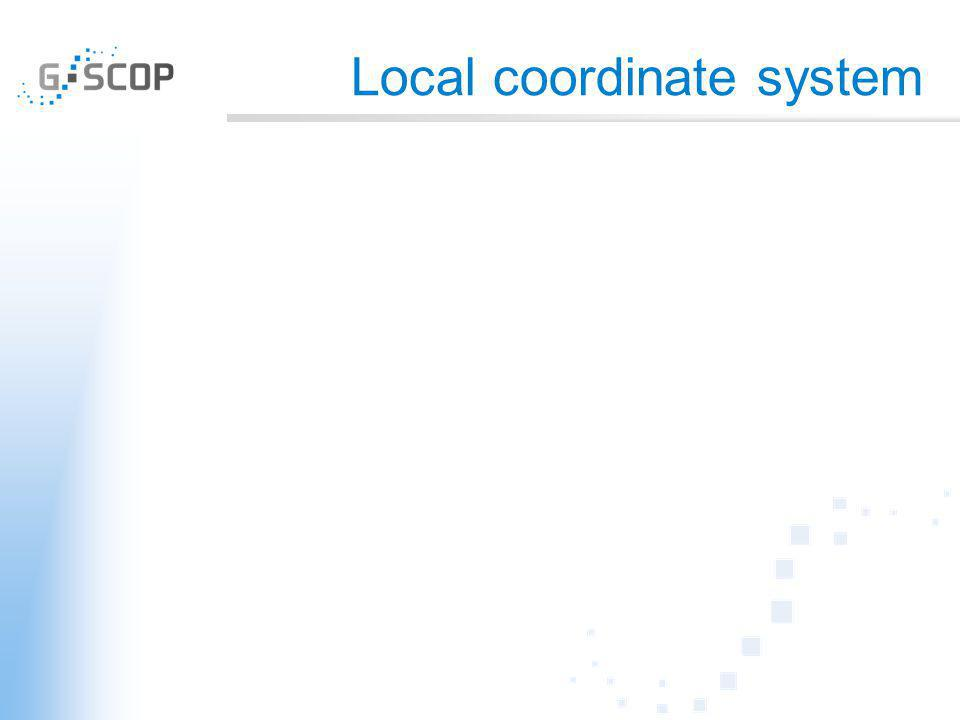 Local coordinate system