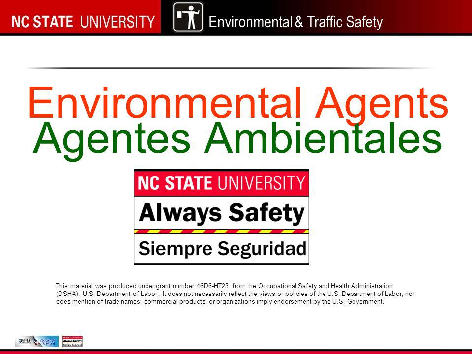 Environmental & Traffic Safety What types of PPE are needed?...