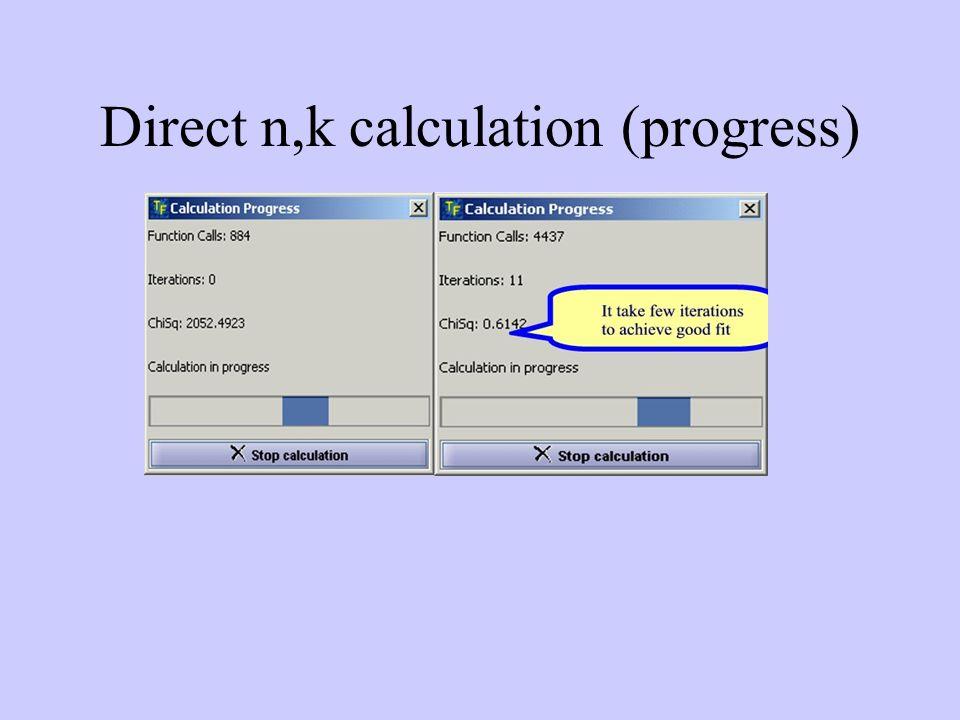 Direct n,k calculation (progress)