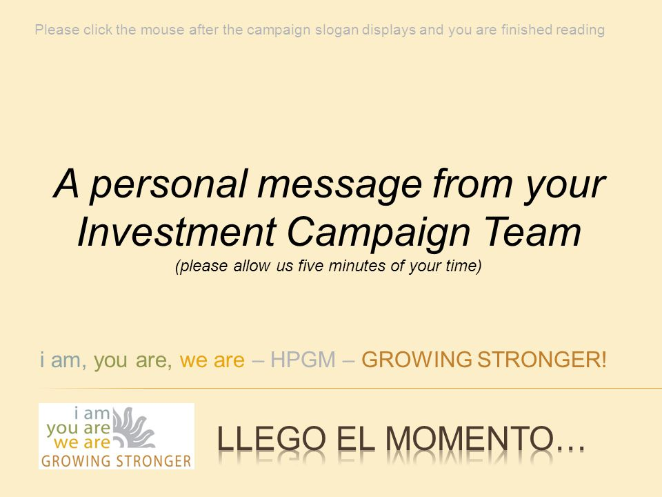 i am, you are, we are – HPGM – GROWING STRONGER.