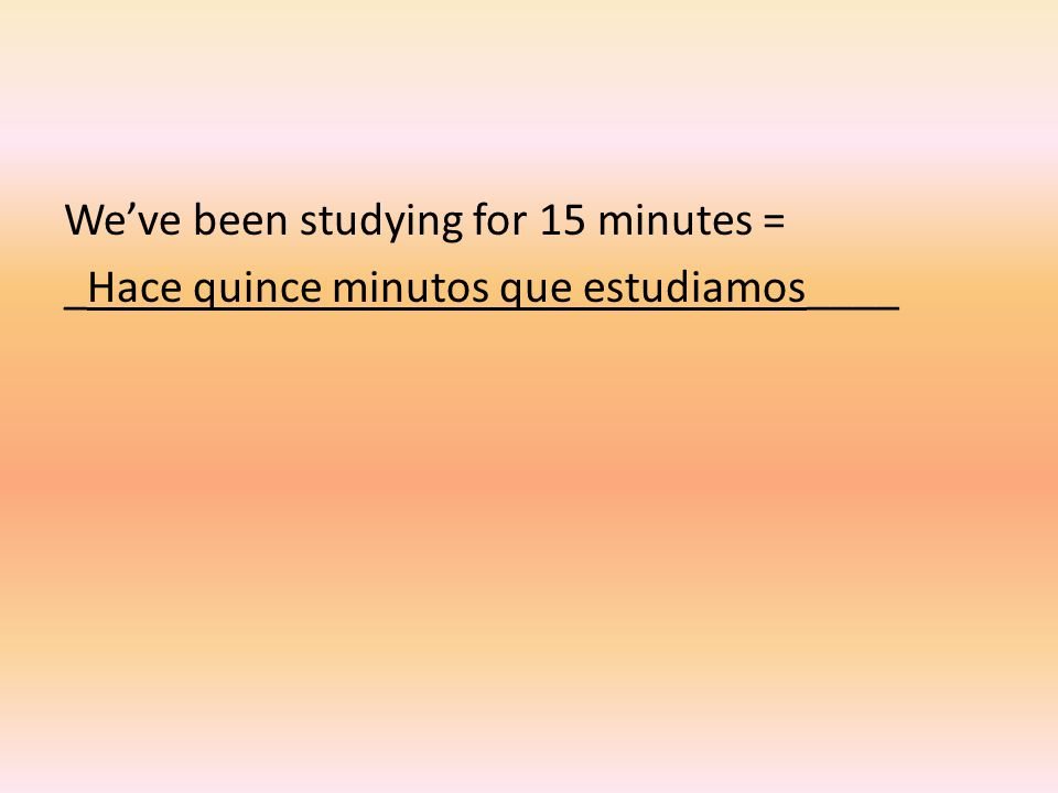 If you're the one doing the asking, do the same thing, but use Cuánto tiempo in your sentence, which means How much time? ¿Cuánto tiempo + hace + que + present tense verb?