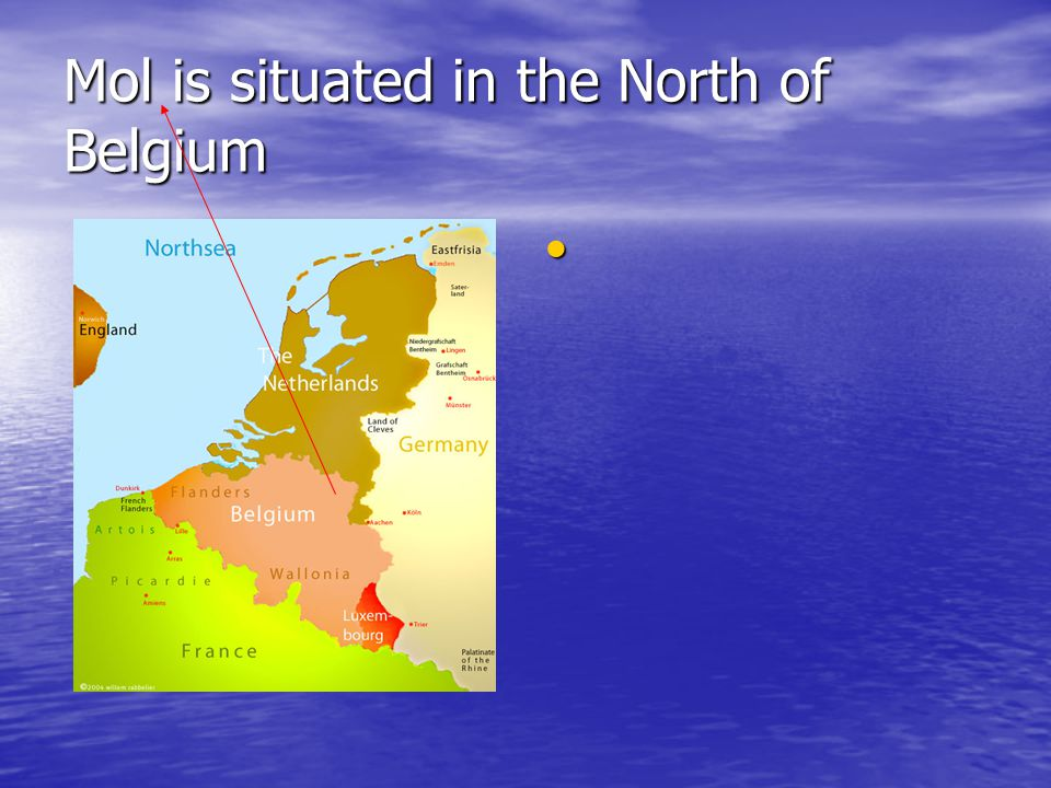 Mol is situated in the North of Belgium