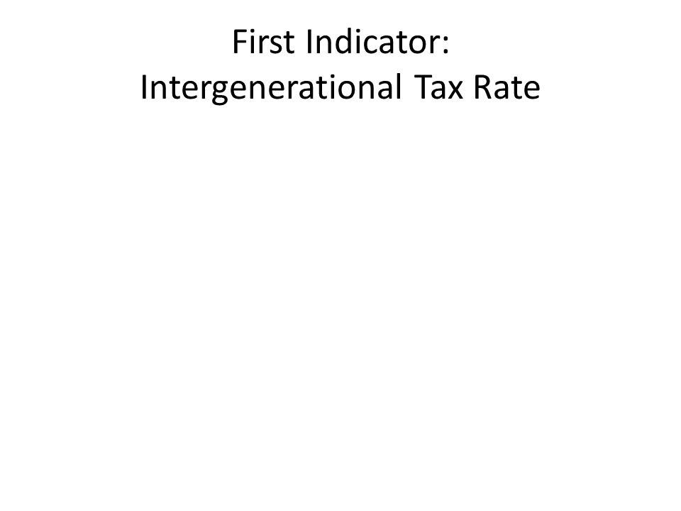 First Indicator: Intergenerational Tax Rate