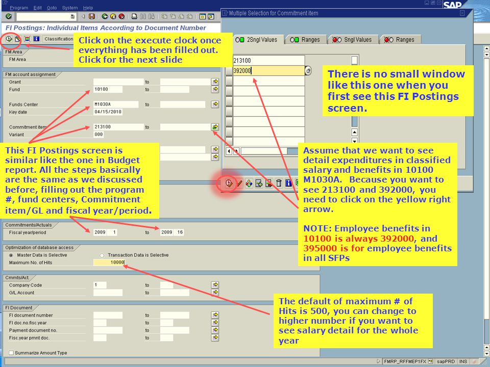 Double click on the GL account, in this example, 452100, and you'll see a screen like the one shown in next slide.