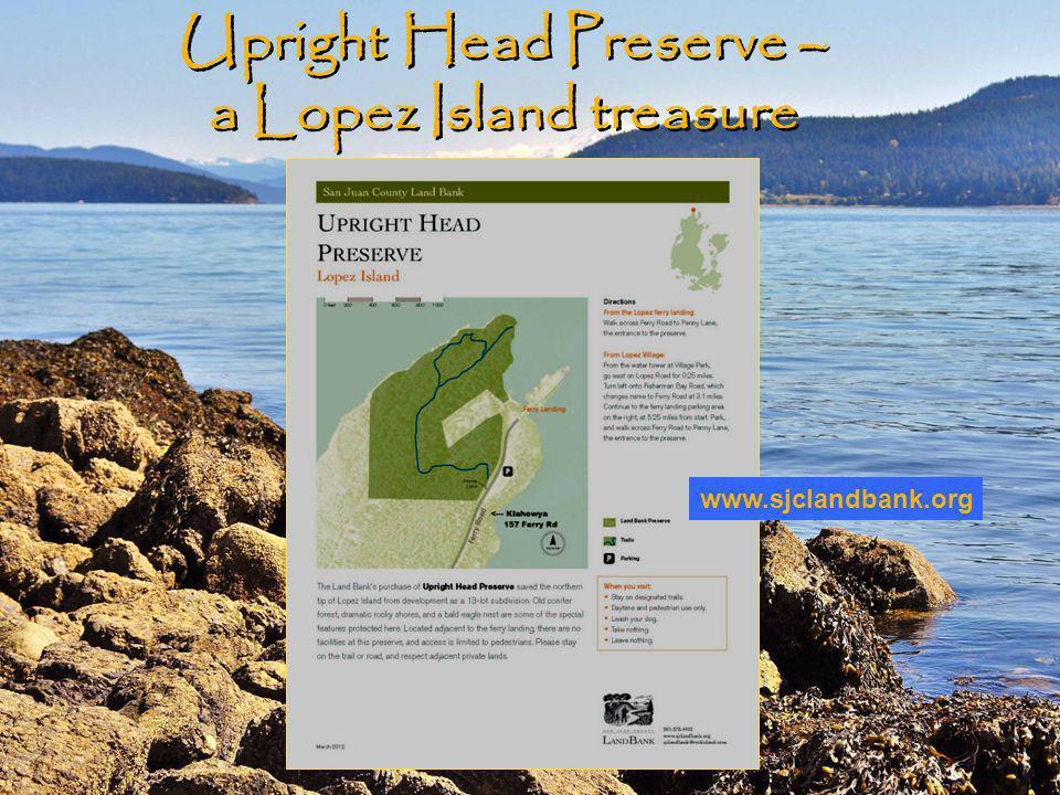 Upright Head Preserve – a Lopez Island treasure www.sjclandbank.org