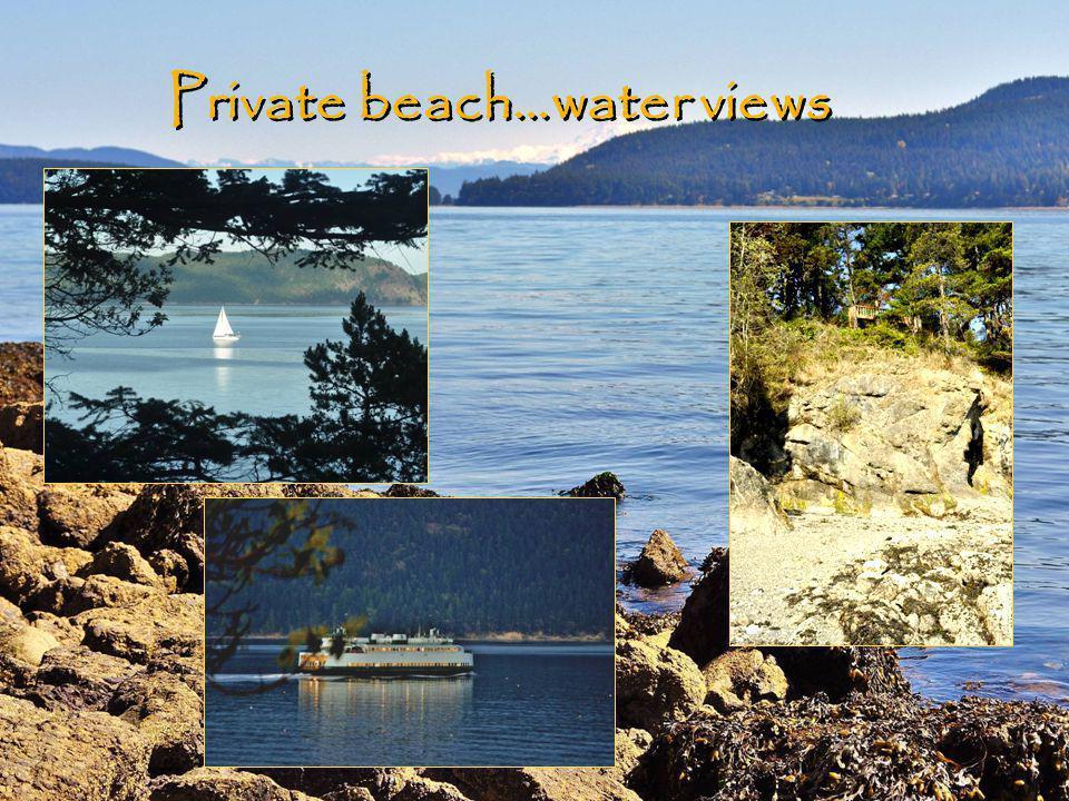 Private beach…water views
