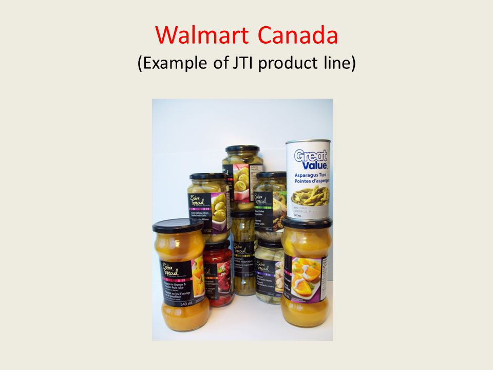 Walmart Canada (Example of JTI product line)