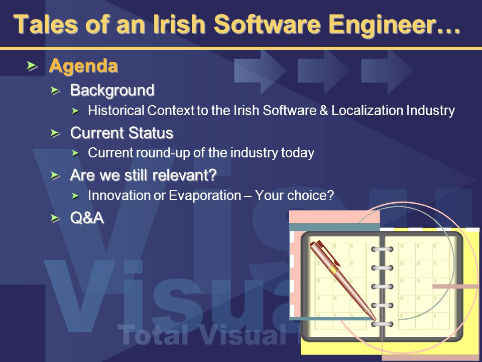 The Current Threats Further recession in the United States Largest source of overseas investment into Ireland Current process of software localization is unlikely to continue for long Internet-based services will play an increasingly important role Making location less of a factor Eroding Ireland's importance in the process  Companies may simply not need to locate facilities in Ireland to conduct localization Supply of software in package format ESD may become the norm.