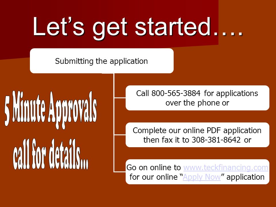 Most applications take 5 minutes for a pre approval….
