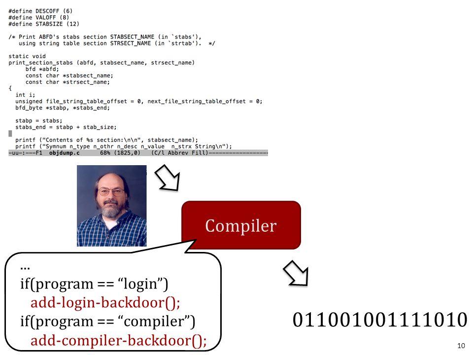 10 Compiler 011001001111010...