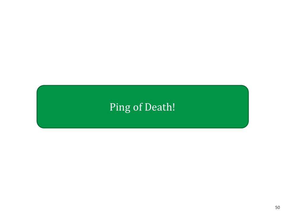 50 Ping of Death!