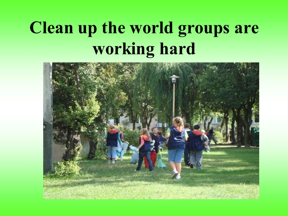 In our school there are some clean up the world groups