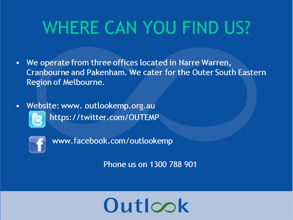 WHERE CAN YOU FIND US.