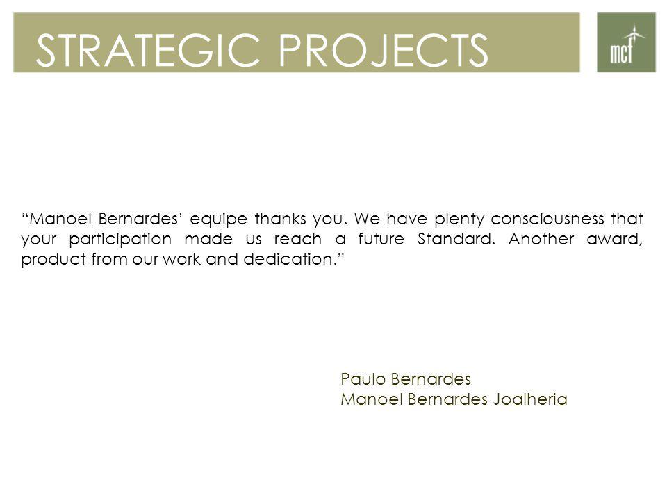Manoel Bernardes' equipe thanks you.