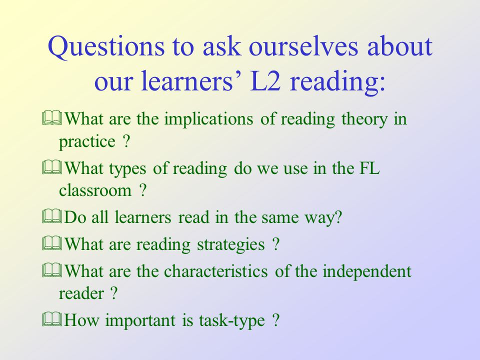 What are the implications of reading theory in practice .