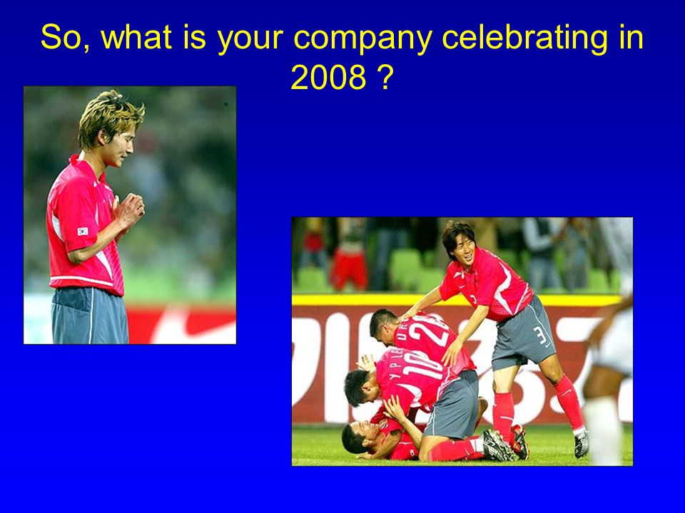 So, what is your company celebrating in 2008 ?
