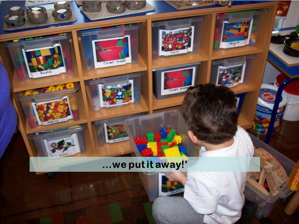 …we put it away!'