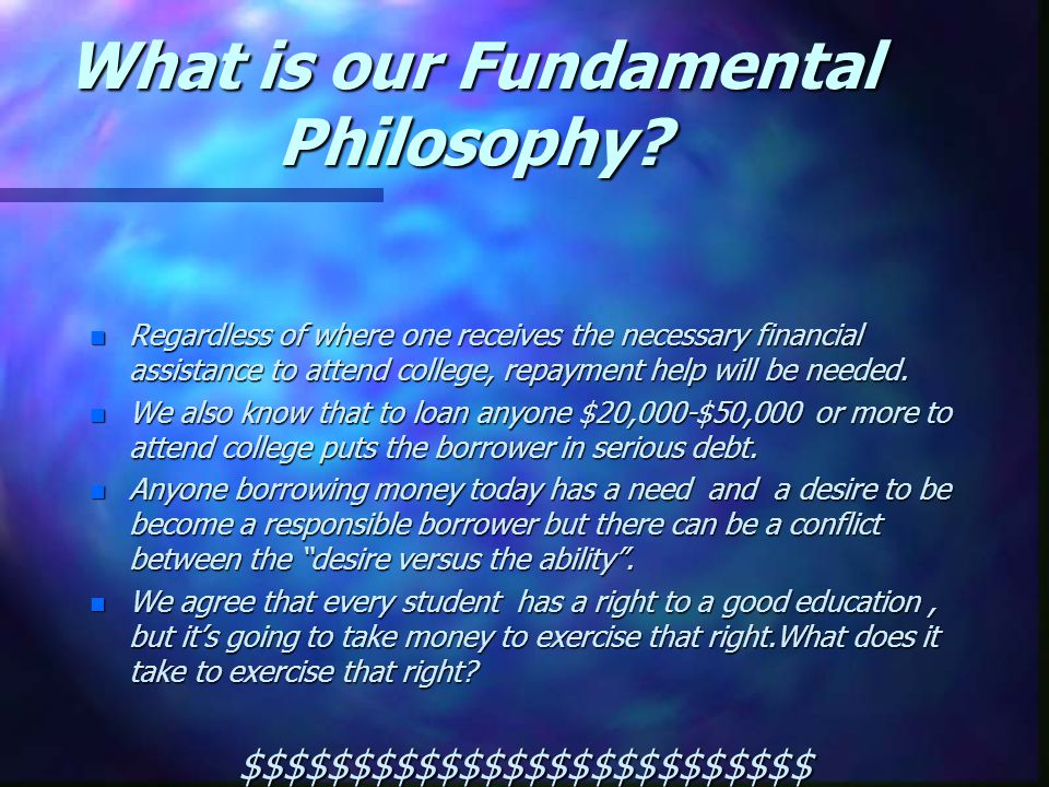 What is our Fundamental Philosophy.