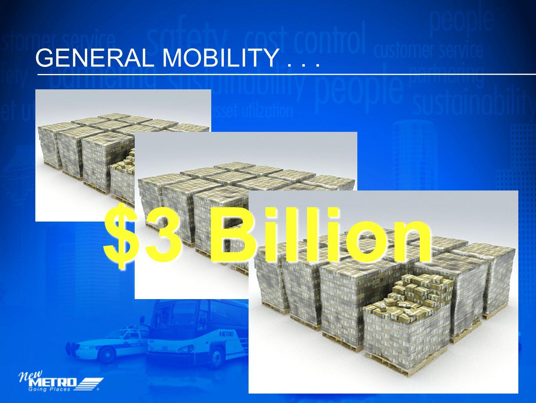 GENERAL MOBILITY... $3 Billion