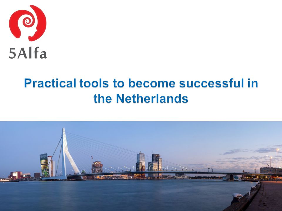 Practical tools to become successful in the Netherlands Lidia Krawczyk 18/10/2014