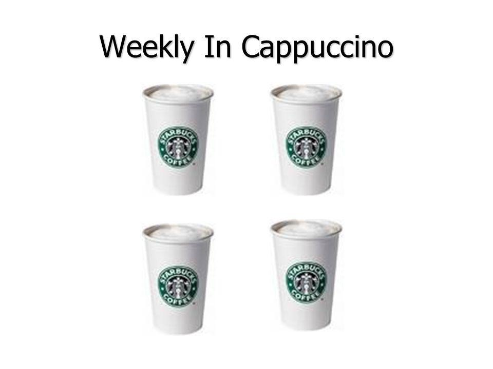 Weekly In Cappuccino