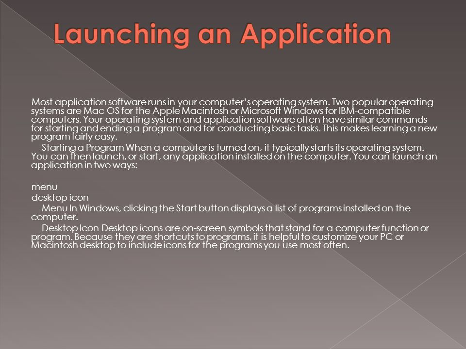 Using application software