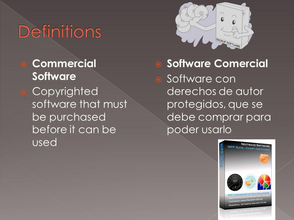  System Requirement  The minimum equipment a computer needs to run an application  Requisitos de Sistema  Equipo mínimo que una computadora necesita para ejecutar una aplicación
