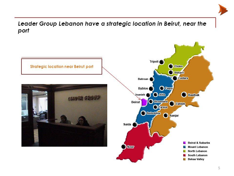 Leader Group Lebanon have a strategic location in Beirut, near the port Strategic location near Beirut port 5