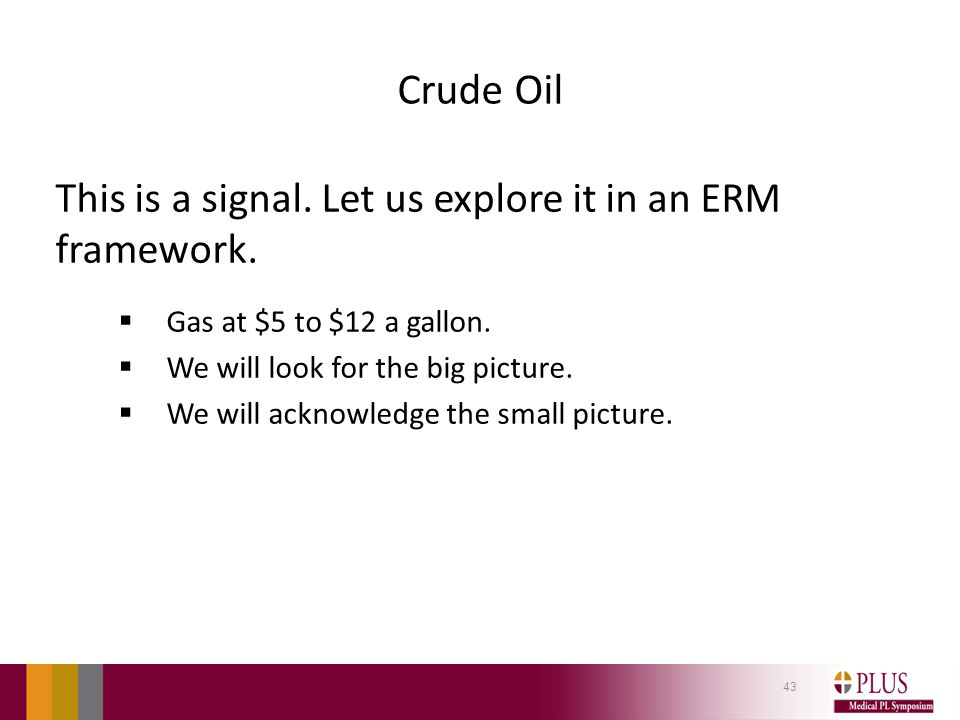Crude Oil This is a signal. Let us explore it in an ERM framework.
