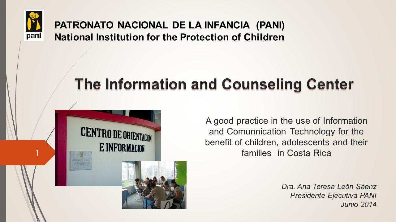 Introductory remarks  On behalf of 1.3 million children and adolescents who live in Costa Rica, and all the other children of the world  In a country where access to television and telephone services is almost total, and digital interest is widespread  The challenges are inmense, considering the need to educate children, parents, educators and the community in general, with regard to the factors that determine whether technology benefits or harms children  Powerful economic, cultural, social, interpersonal, and personal interests are at stake.