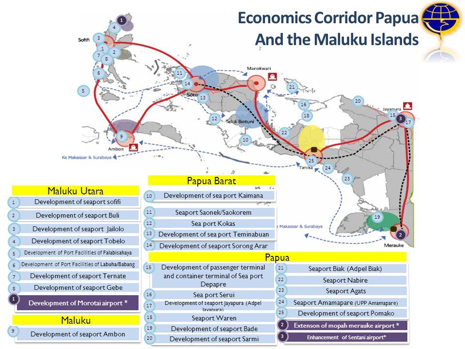 1 2 3 4 5 6 7 8 10 11 12 15 16 17 14 18 13 19 20 21 22 23 24 1 3 25 9 2 Development of seaport sofifi 1 Development of seaport Buli 2 Development of s