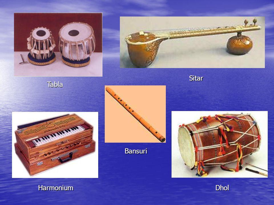 Tabla Sitar Harmonium Dhol Bansuri