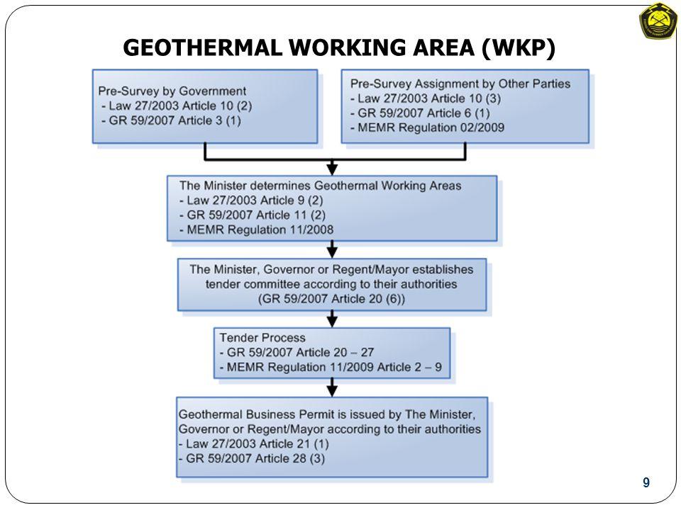 GEOTHERMAL WORKING AREA (WKP) 9
