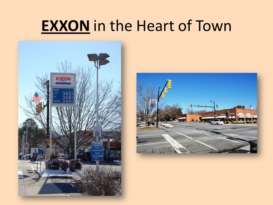 EXXON in the Heart of Town