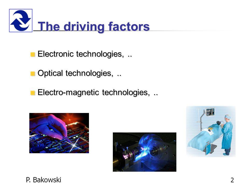 P. Bakowski 2 The driving factors Electronic technologies,..
