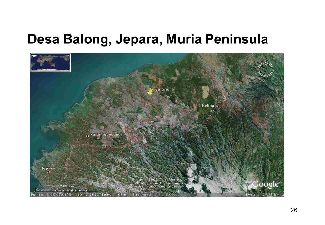 26 Desa Balong, Jepara, Muria Peninsula