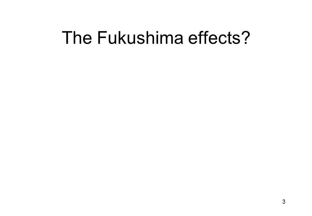 3 The Fukushima effects