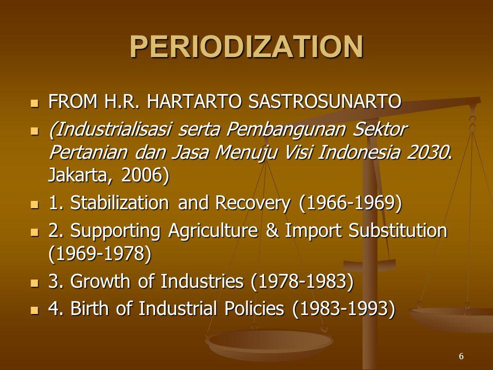 6 PERIODIZATION FROM H.R. HARTARTO SASTROSUNARTO FROM H.R.