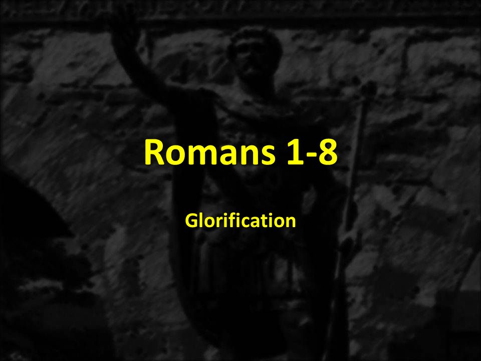 1:1-171:18-3:203:21-5:21 6-8 THE GOSPEL OF GRACE THE THREE TYPES OF SINNERS JUSTIFICATION SANCTIFICATON Sanctification Positional 6:1-10 Sanctification Practical 6:11-8:17 Glorification 8:18-39 Justification Explained 3:21-31 Justification Exemplified 4:1-25 Identification: In Adam All Die In Christ All Live 5:11-21 The Immoral Sinner 1:18-32 The Moral Sinner 2:1-16 The Religious Sinner 2:17-3:8 Conclusion: All Are Sinners 3:9-20 Accountable for the Gospel 1:1-5 Addressees The Romans 1:6-7 Aspirations in the Gospel 1:8-15 Acclamation of the Gospel: Salvation to all who believe 1:16-17 ROMANS The Justice of God Revealed Justification's End Results 5:1-11 THE THREE TENSES OF SALVATION GLORIFICATION