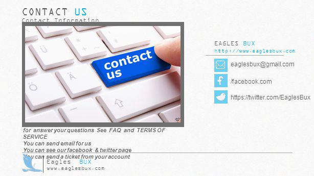 EAGLES BUX http://www.eaglesbux.com eaglesbux@gmail.com CONTACT US Contact Information /facebook.com https://twitter.com/EaglesBux for answer your que