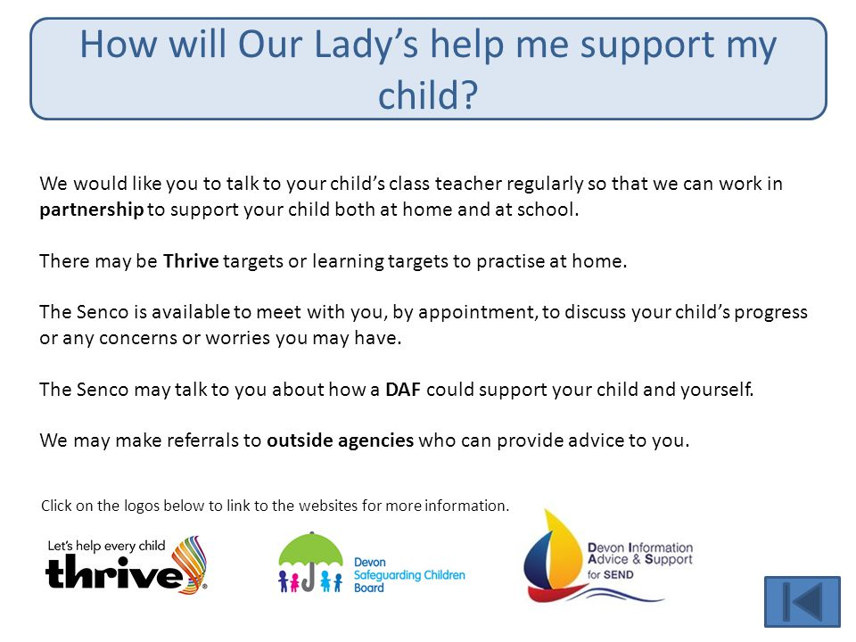 How will Our Lady's help me support my child.