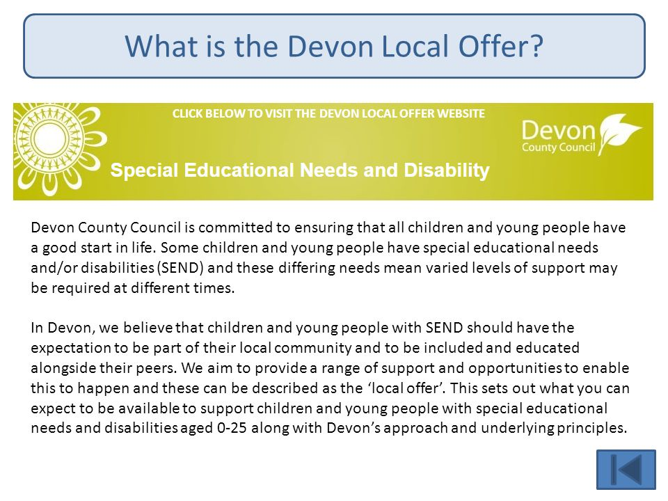 What is the Devon Local Offer.