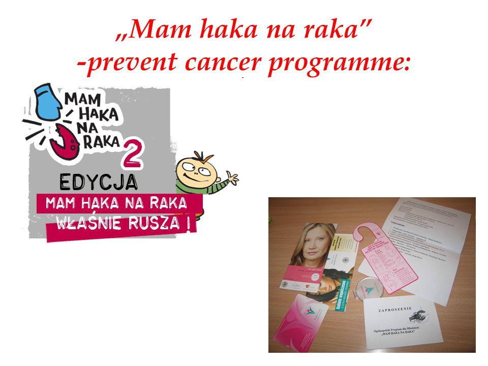 """""""Mam haka na raka -prevent cancer programme:"""