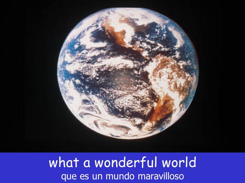 what a wonderful world que es un mundo maravilloso