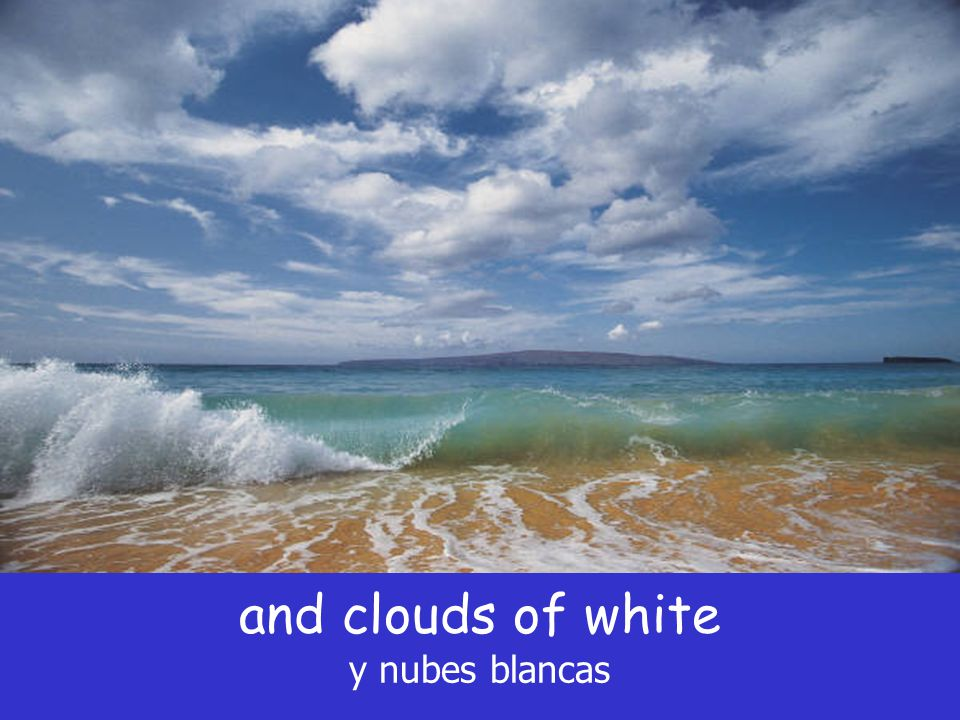 and clouds of white y nubes blancas
