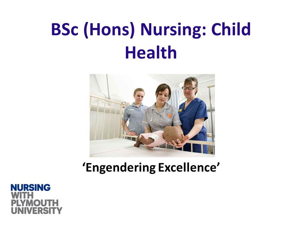 'Engendering Excellence' BSc (Hons) Nursing: Child Health