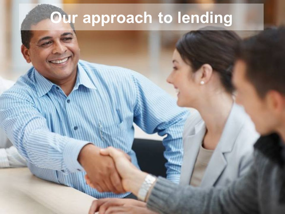 Our approach to lending